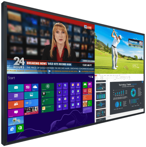 """98 inch interactive 98"""" touch screen display monitor rental hire orlando florida touchscreen rentals"""